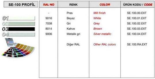 se-100-profil-renk-tablosu