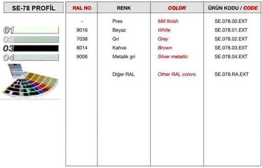 se-78-profil-renk-tablosu