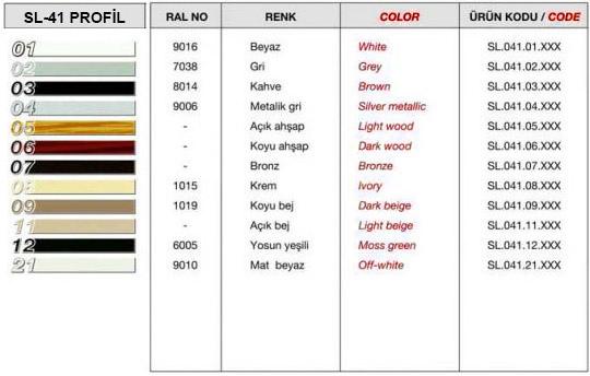 sl-41-profil-renk-tablosu