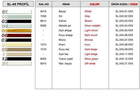 sl-45-profil-renk-tablosu