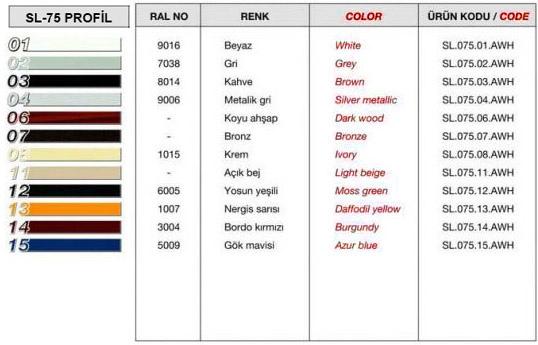 sl-75-profil-renk-tablosu