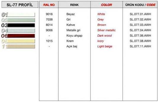 sl-77-profil-renk-tablosu
