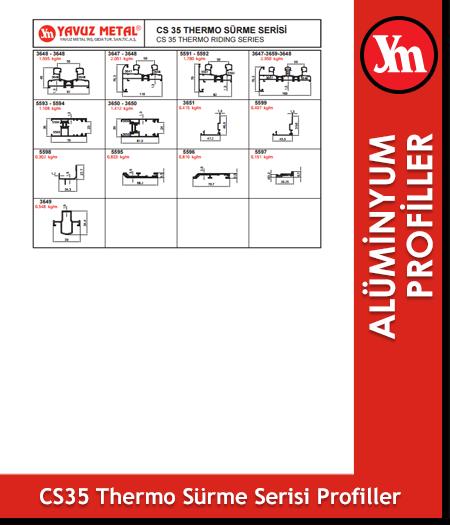 CS 35 Thermo Sürme Serisi Alüminyum Profiller