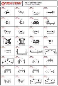FS 50 Cephe Serisi Alüminyum Profiller - Katalog3
