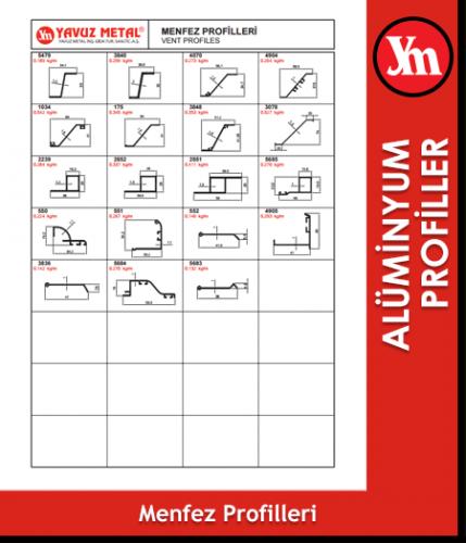 Alüminyum Menfez Profilleri