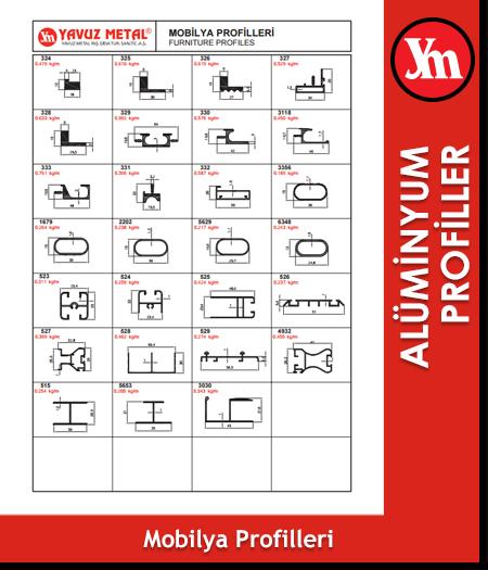 Alüminyum Mobilya Profilleri