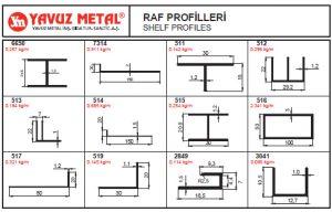 Raf ve PST Alüminyum Profilleri - Katalog