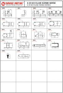 S 35 Novoline Sürme Serisi Alüminyum Profiller - Katalog