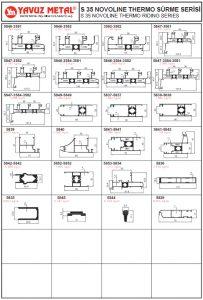S 35 Novoline Sürme Serisi Alüminyum Profiller - Katalog2
