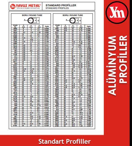 Standart Alüminyum Profil