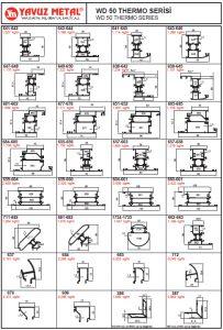 WD 50 Thermo Serisi Alüminyum Profiller - Katalog
