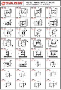 WD 62 Thermo Serisi Alüminyum Profiller - Katalog