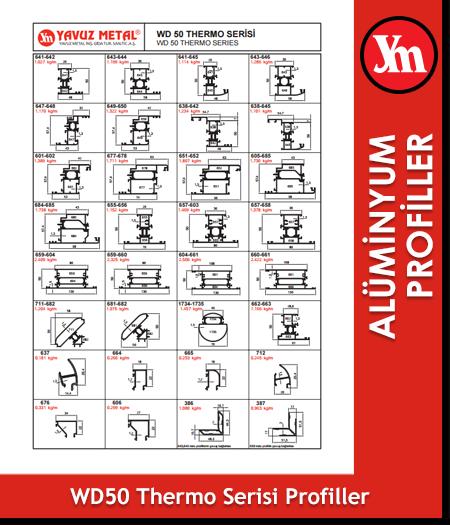 WD 50 Thermo Serisi Alüminyum Profiller