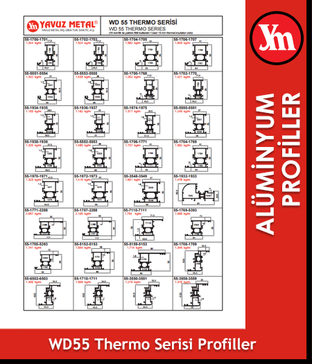 WD 55 Thermo Serisi Alüminyum Profiller