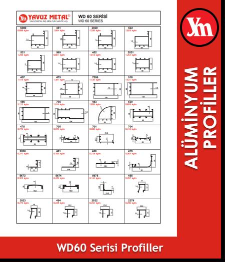 WD 60 / C 60 Serisi Alüminyum Profiller