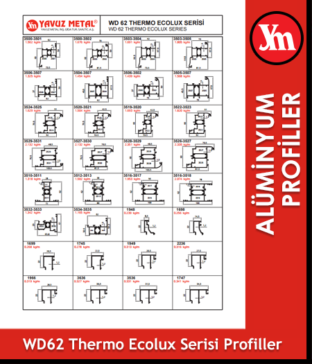 WD 62 Thermo Serisi Alüminyum Profiller