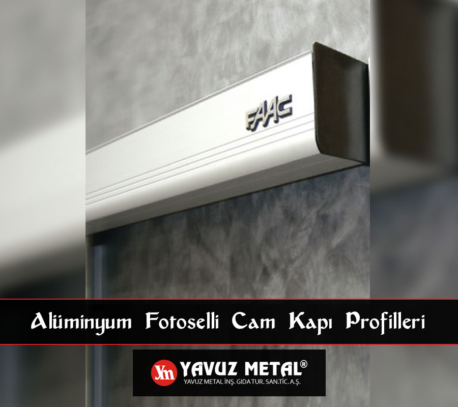 Alüminyum Fotoselli Cam Kapı Profilleri
